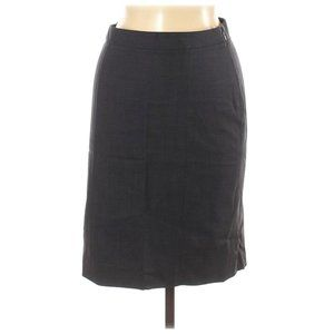 Theory Solid Black Gray Wool Skirt Size 2